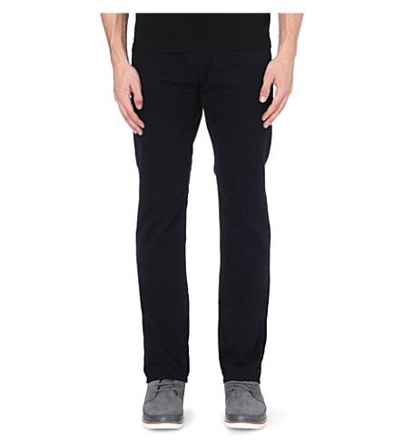J BRAND Kane slim-fit straight leg twill trousers (Blue