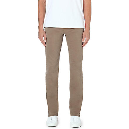 J BRAND Kane slim-fit straight leg twill trousers (Tan