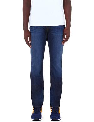J BRAND Straight mid-rise stretch-denim jeans