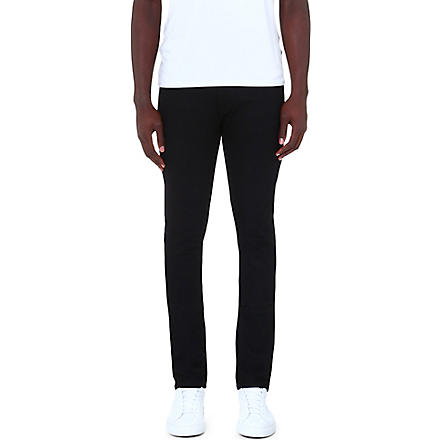 J BRAND Skinny mid-rise stretch-denim jeans (Black