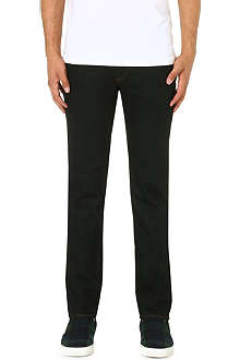 J BRAND Slim-fit tapered stretch-denim jeans