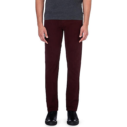 J BRAND Tyler slim-fit twill trousers (Claret