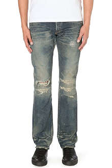 FABRIC BRAND Amos slim-fit straight jeans