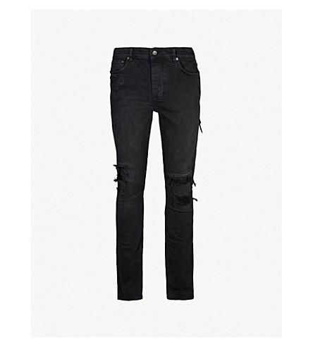 KSUBI Chitch Boneyard ripped regular-fit stretch-denim jeans (Black