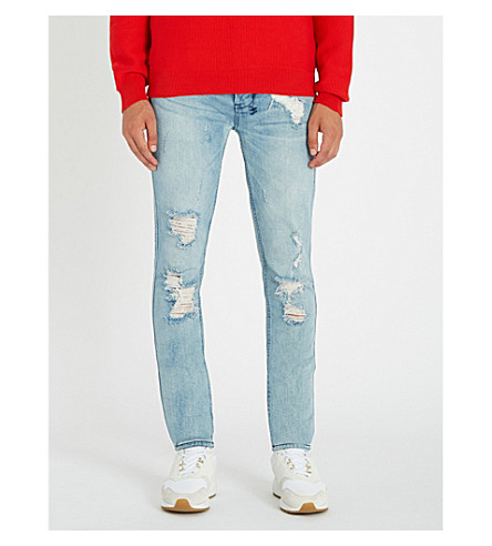 KSUBI Van Winkle Thrashed Dreams slim-fit distressed stretch-denim jeans (Thrashed+dreams