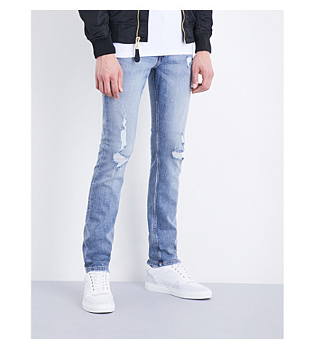 CHEAP MONDAY Tight Future slim-fit skinny mid-rise jeans (Future+blue