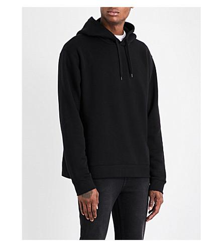 CHEAP MONDAY Tonal-stitching cotton-jersey hoody (Black