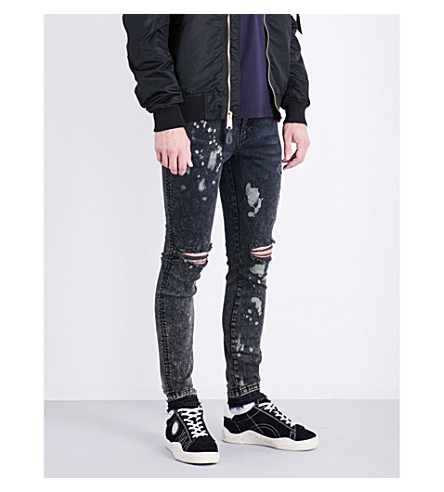 REPRESENT Destroyer skinny mid-rise jeans (Grey