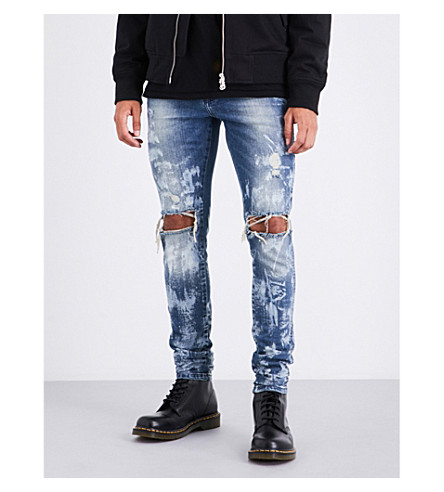 Represent Skinny mid-rise jeans