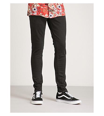 REPRESENT 基本修身版型紧身牛仔裤 (黑色