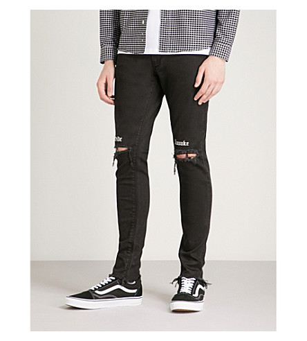 REPRESENT Destroyer slim-fit skinny jeans (Black+wide+awake