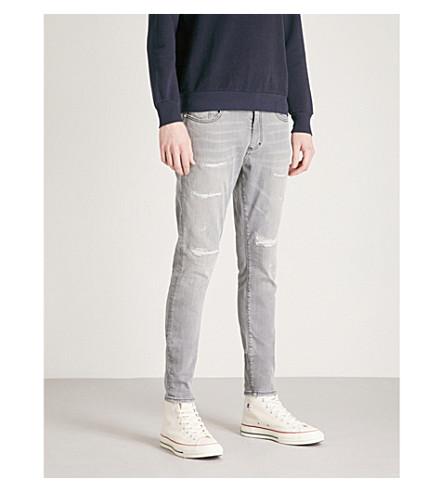 REPRESENT 维修修身版型紧身牛仔裤 (灰色