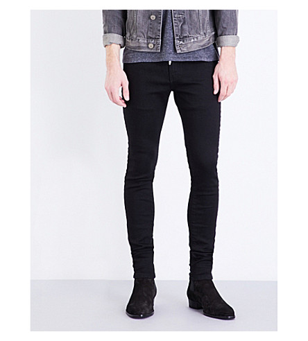 REPRESENT Essential skinny stretch-denim jeans (Black