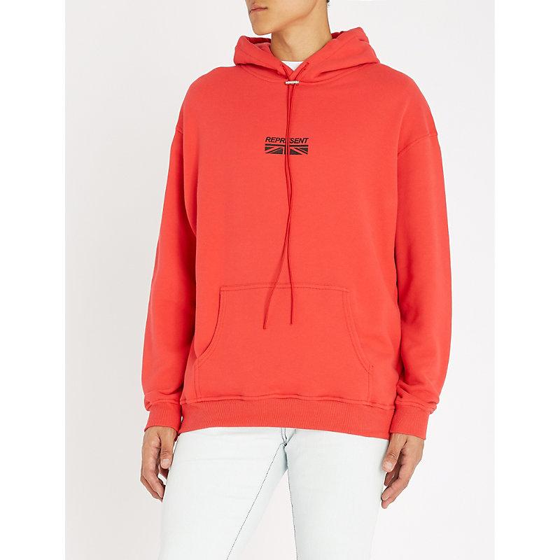 REPRESENT Flag-print cotton-jersey hoody