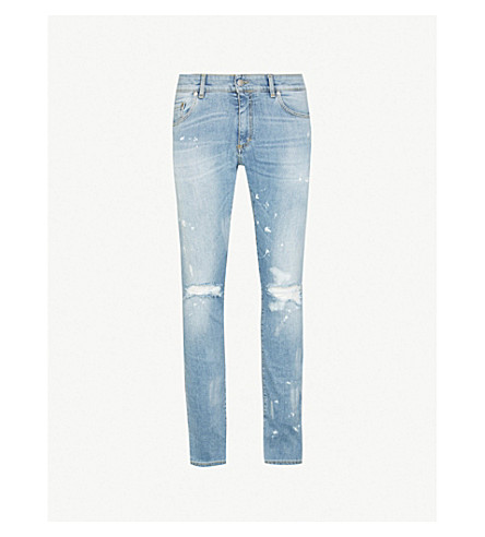 REPRESENT Destroyer ripped slim-fit skinny jeans (Blue