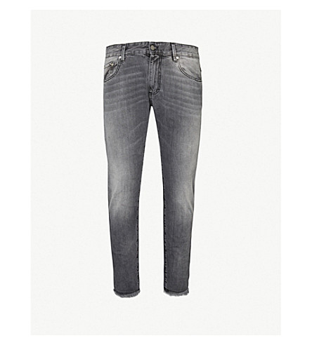 REPRESENT Relaxed-fit cropped denim jeans (Fog