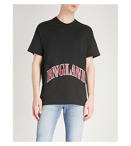 REPRESENT England cotton-jersey T-shirt (Black