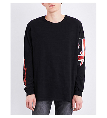 REPRESENT Hell cotton-jersey top (Black