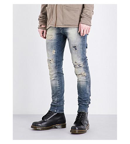 REPRESENT Repairer slim-fit skinny jeans (Sand+blast