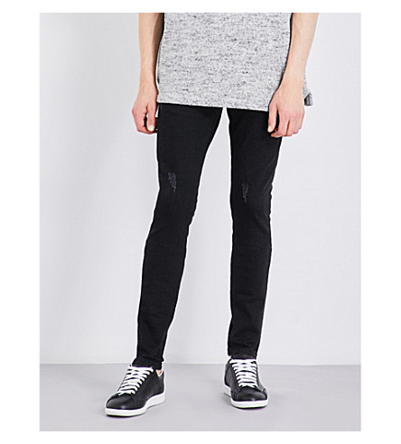 REPRESENT Essential skinny stretch-denim jeans (Vintage+black