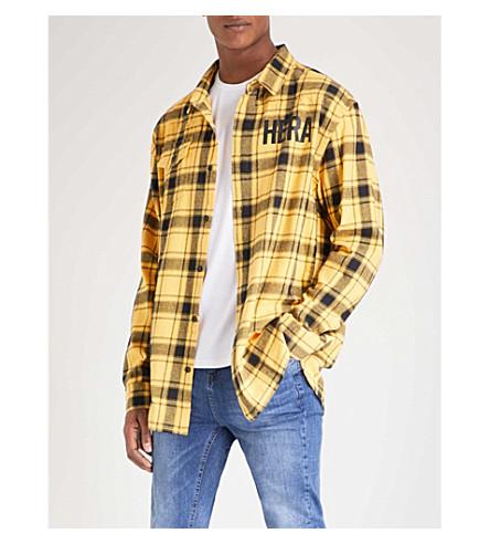 HERA Checked cotton shirt (Yellow+tartan
