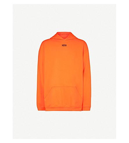 HERA Logo-print cotton-jersey hoody (Orange
