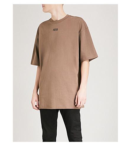 HERA Logo-print cotton-jersey T-shirt (Mocha