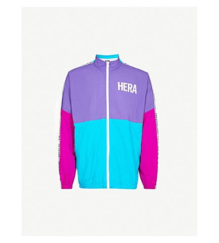 HERA Retro printed panelled shell jacket (Hot+pink/purple/blue