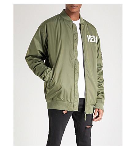 HERA Oversized shell bomber jacket (Khaki