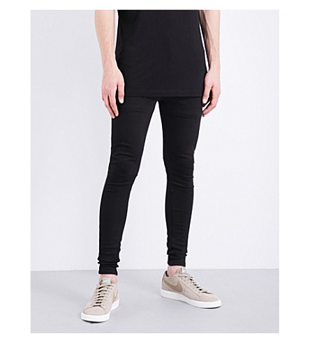 HERA Spray-on slim-fit skinny jeans (Black