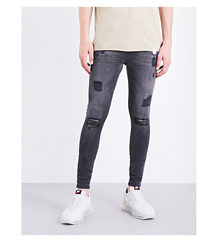 HERA Rip Repair spray-on skinny jeans (Grey