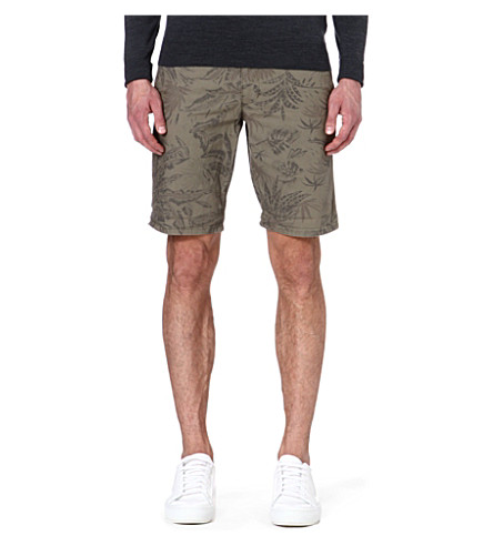 DOCKERS Leaf print shorts (Olive