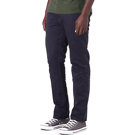 DOCKERS Alpha khaki standard-fit trousers (Midnight