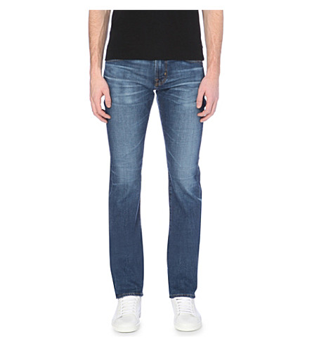 AG JEANS Matchbox slim-fit straight-leg jeans (Blue+rinse