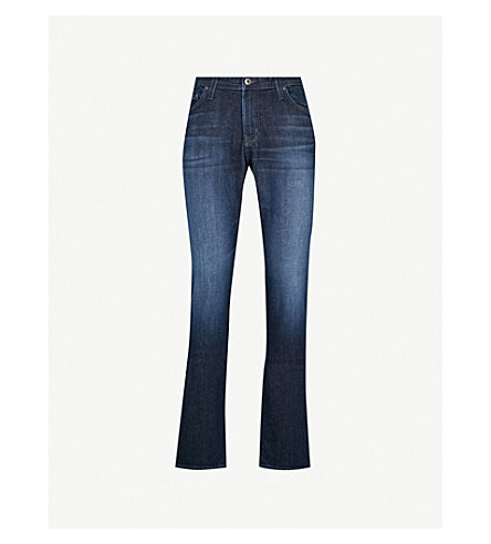 AG JEANS Faded tailored-fit straight jeans (Stafford