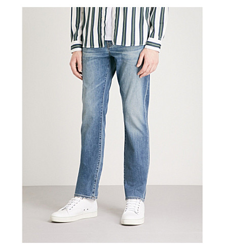 AG JEANS Graduate faded tailored-fit straight jeans (Grasslands
