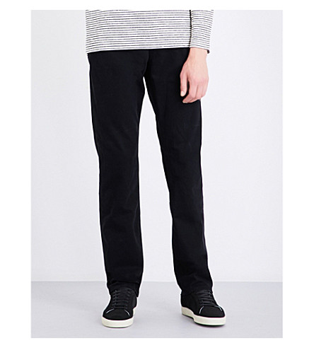AG JEANS Graduate slim-fit tailored jeans (Black
