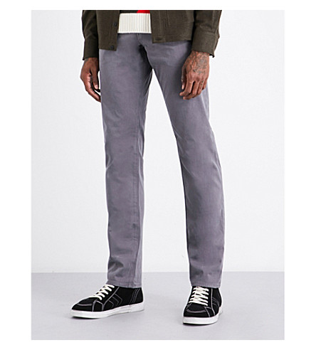 AG JEANS Graduate slim-fit tailored jeans (Grey