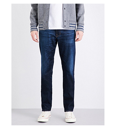 AG JEANS Tellis slim-fit stretch-denim jeans (Blue+agt