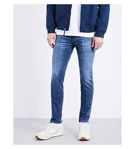 AG JEANS Stockton slim-fit skinny jeans (Light+wash