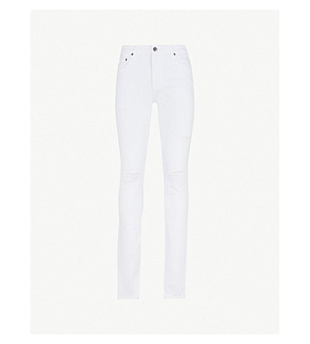 AG JEANS Stockton slim-fit skinny jeans (White+crash