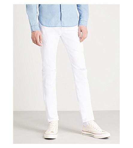 AG JEANS Stockton slim-fit skinny jeans (White+crash