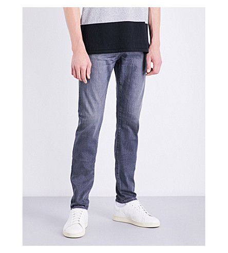 AG JEANS The Stockton skinny-fit tapered jeans (Grey+wash