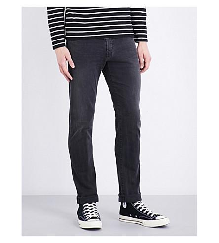 AG JEANS Tellis slim-fit mid-rise jeans (Black+wash