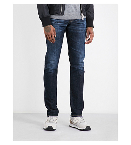 AG JEANS Tellis slim-fit tapered jeans (Dark+stretch+selvedge