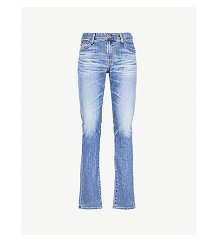 AG JEANS Tellis slim-fit tapered stretch-cotton jeans (15+years+open+road