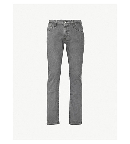 AG JEANS Tellis slim-fit tapered stretch-cotton jeans (Sulfer smoke grey
