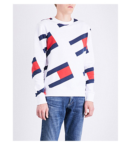 TOMMY JEANS 90s cotton-blend sweatshirt (Classic+white