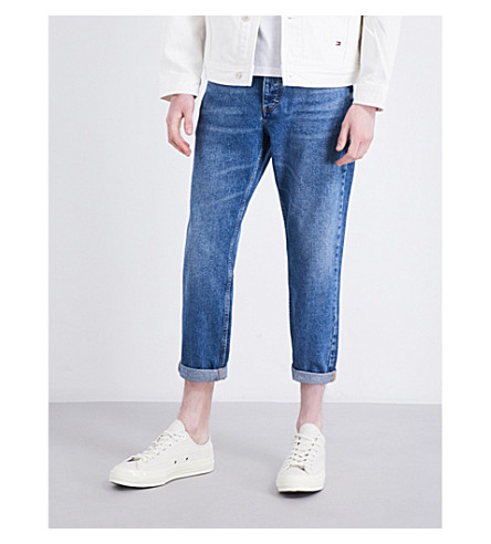 TOMMY JEANS Carpenter classic-fit tapered jeans (Dark+wash