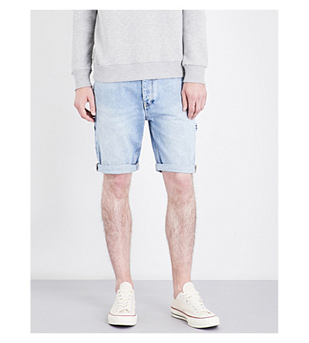 TOMMY JEANS 90s relaxed-fit carpenter denim shorts (Mid+stone+wash